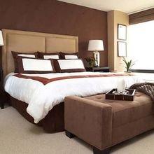 Фотография: Спальня в стиле Классический, Декор интерьера, Дизайн интерьера, Цвет в интерьере, Советы, Коричневый – фото на InMyRoom.ru
