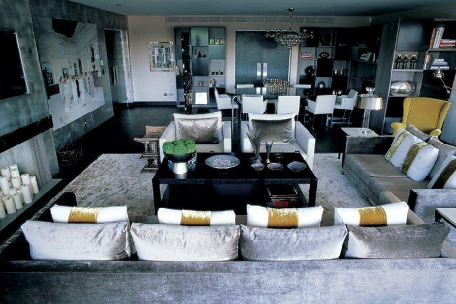 Фотография: Гостиная в стиле Современный, Великобритания, Мебель и свет, Цвет в интерьере, Индустрия, Люди, Лондон – фото на InMyRoom.ru