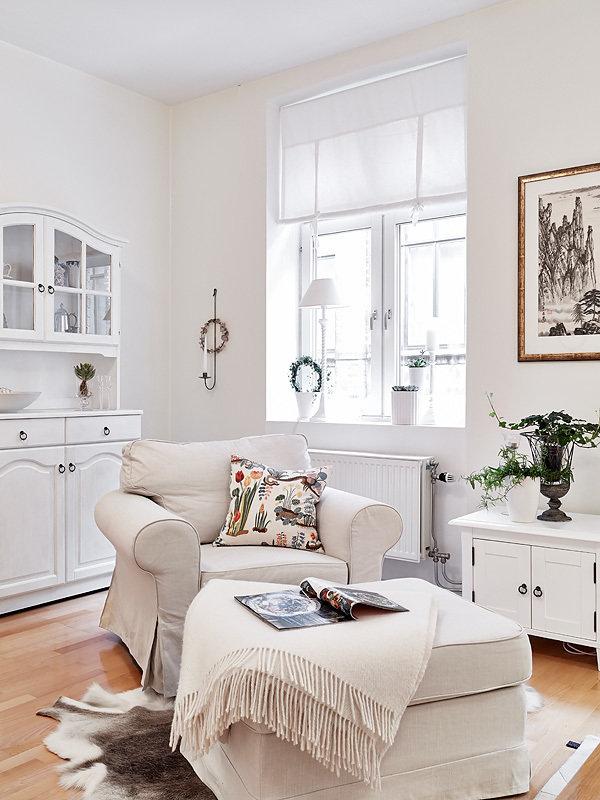Фотография: Прочее в стиле , Скандинавский, Малогабаритная квартира, Квартира, Швеция, Цвет в интерьере, Дома и квартиры, Белый, Гетеборг – фото на InMyRoom.ru