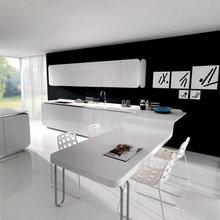 Фотография: Кухня и столовая в стиле Современный, Хай-тек, Дизайн интерьера – фото на InMyRoom.ru