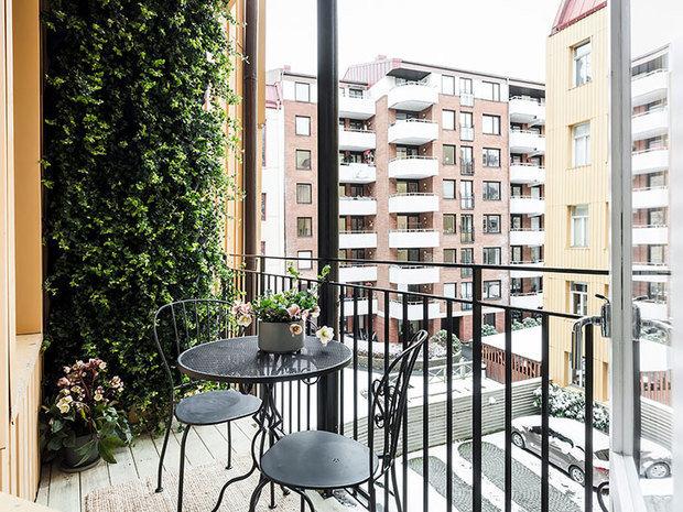 Фотография: Балкон в стиле Скандинавский, Малогабаритная квартира, Квартира, Студия, Швеция, до 40 метров – фото на InMyRoom.ru