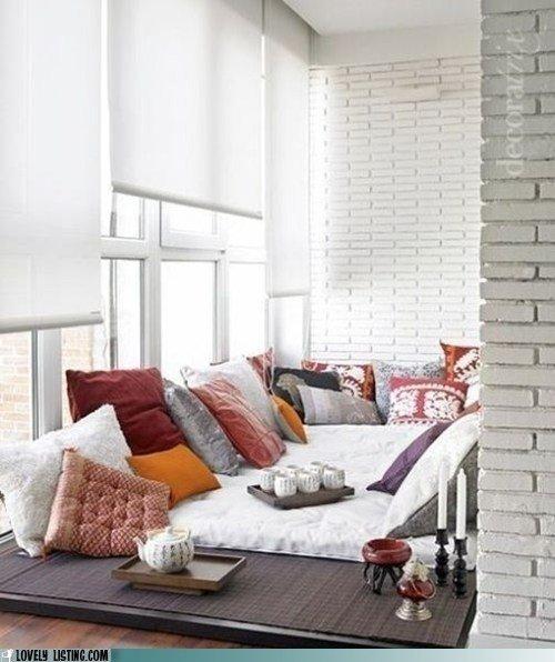 Фотография: Балкон, Терраса в стиле Восточный, Спальня, Интерьер комнат – фото на InMyRoom.ru