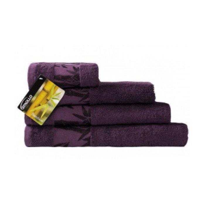 Полотенце Бамбук 70х140 темный сиреневый