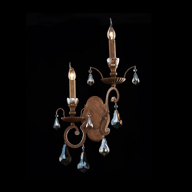Купить Бра Illuminati с хрустальными подвесками черного цвета, inmyroom, Италия
