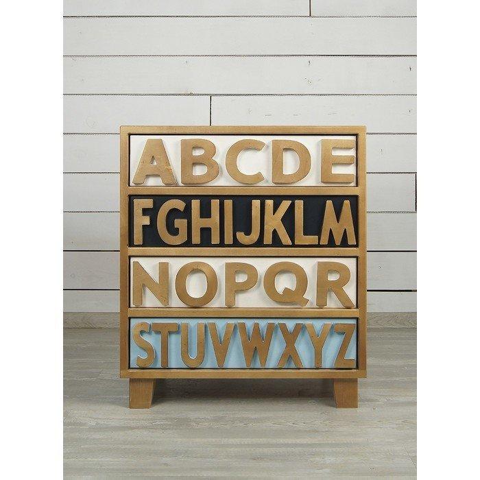 """Низкий комод """"Alphabeto Birch"""" для белья"""
