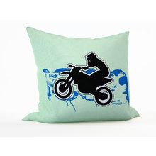 Диванная подушка: Мотогонщик