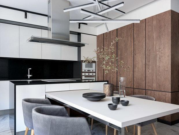 Фотография: Кухня и столовая в стиле Современный, Квартира, Проект недели, Бежевый, Серый, 60-90 метров, TaupeHome, ПРЕМИЯ INMYROOM – фото на INMYROOM