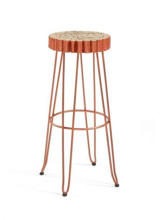 Купить Табурет Julia Grup Evento из массива дерева и металла, inmyroom, Испания