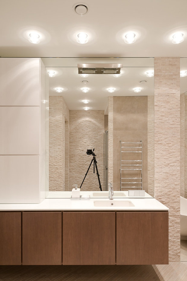 Фотография: Ванная в стиле Минимализм, Классический, Квартира, Проект недели, Москва, Бежевый – фото на InMyRoom.ru