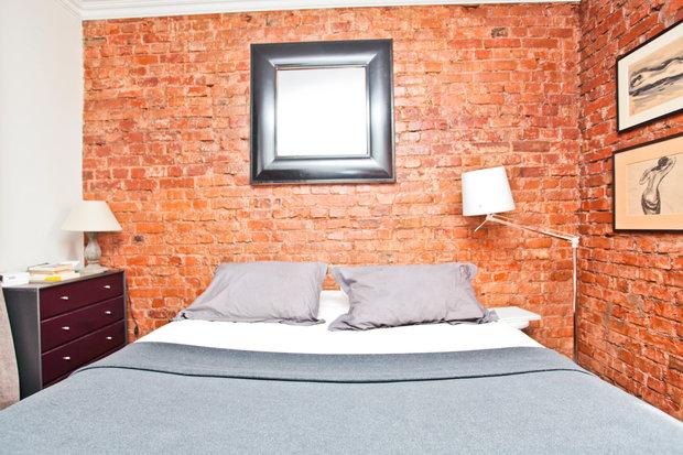 Фотография: Спальня в стиле Современный, Квартира, Дома и квартиры, Перепланировка, Ремонт, Стена – фото на InMyRoom.ru