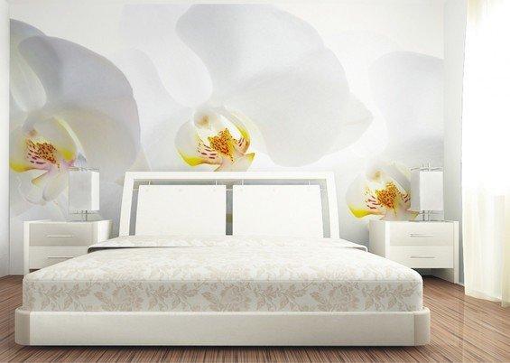 Фотография: Спальня в стиле Современный, Декор интерьера, Декор дома, Обои, Стены, Цветы, Фотообои – фото на InMyRoom.ru