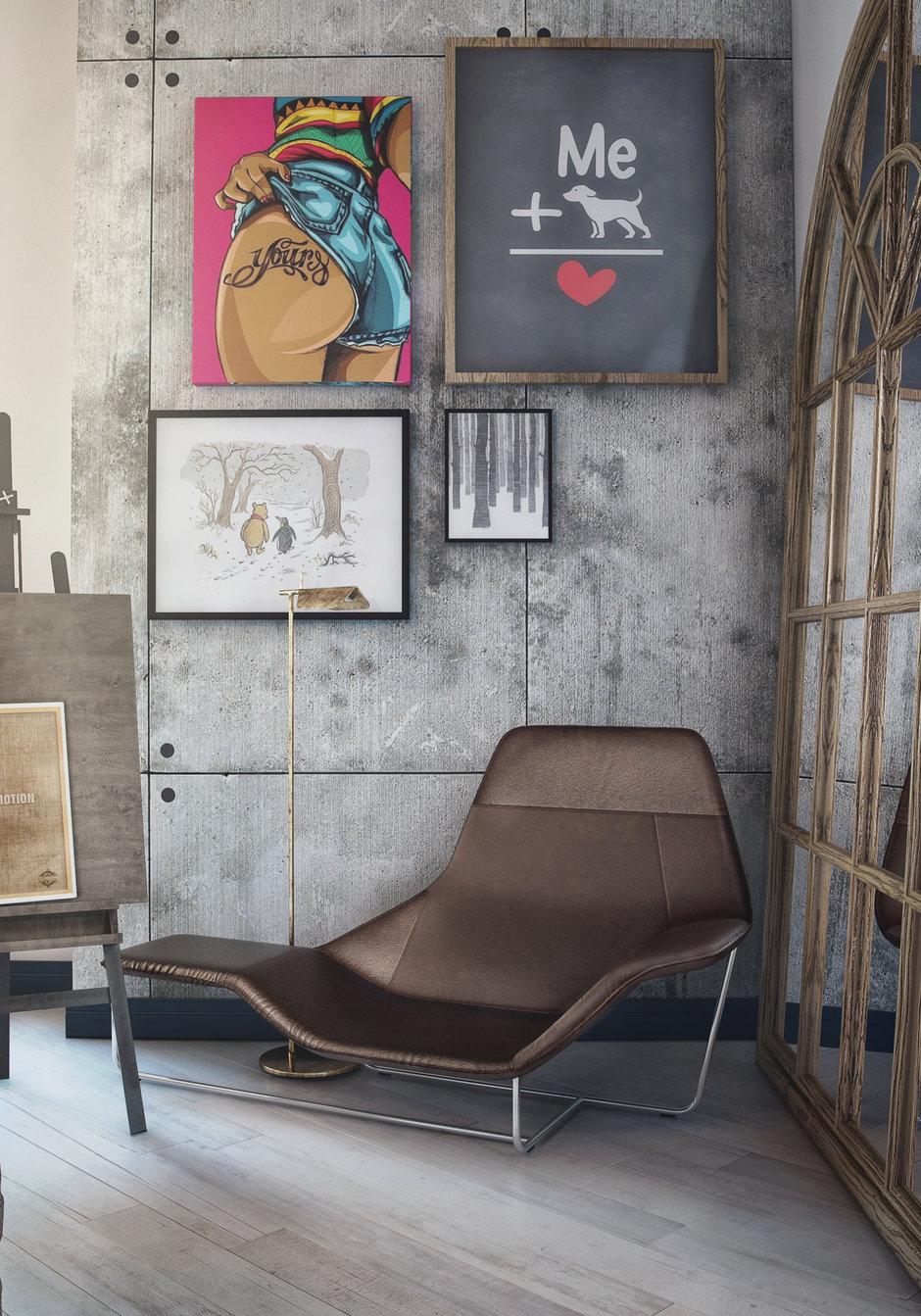 Фотография: Мебель и свет в стиле Лофт, Квартира, Проект недели, Москва, ToTaste Studio, Монолитный дом, 4 и больше, 60-90 метров, ЖК «Соколиный форт» – фото на InMyRoom.ru