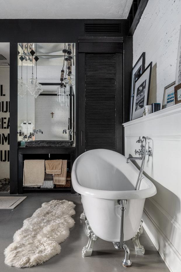 Фотография: Ванная в стиле Лофт, Квартира, Проект недели, Москва, 3 комнаты, 60-90 метров, Мария Полянская – фото на INMYROOM