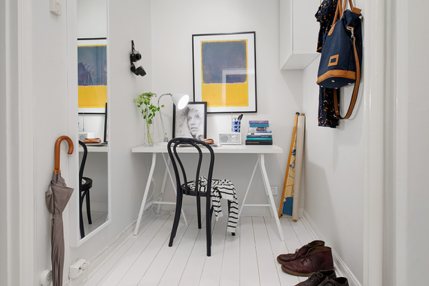 Фотография: Офис в стиле Скандинавский, Малогабаритная квартира, Квартира, Швеция, Дома и квартиры, Гетеборг – фото на InMyRoom.ru