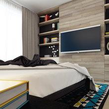 Фото из портфолио Квартира в молодежном стиле с яркими акцентами – фотографии дизайна интерьеров на InMyRoom.ru