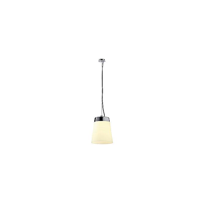 Светильник подвесной Cone Shade Satin хром/ стекло белое