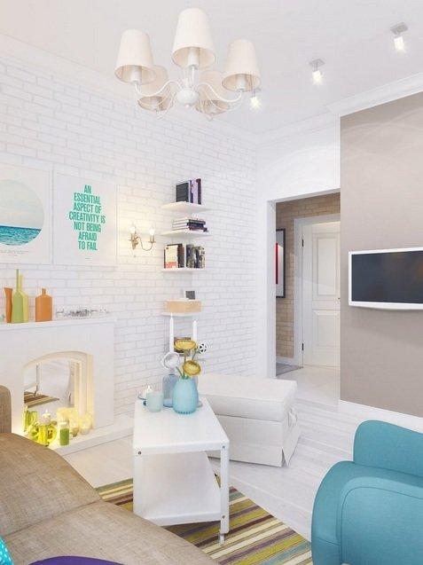 Фотография: Гостиная в стиле , Малогабаритная квартира, Квартира, Индустрия, События – фото на InMyRoom.ru