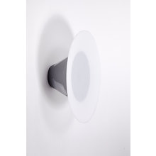 Настенный круглый светильник (тарелка на подставке)