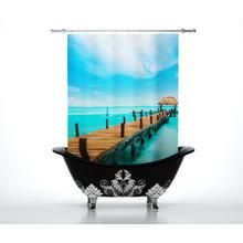 Шторки для ванной комнаты: Воды океана
