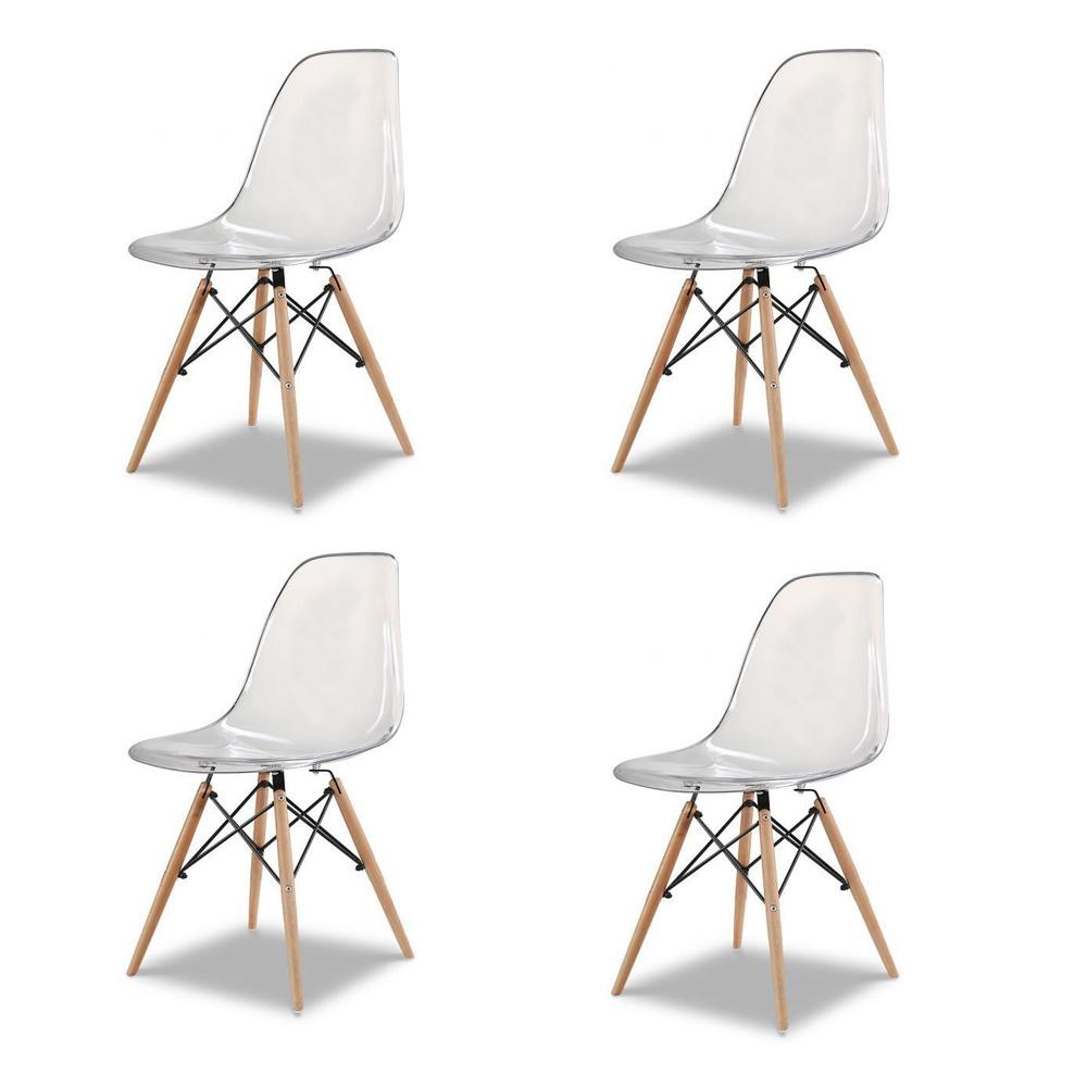 Купить Набор из четырех стульев c прозрачным сидением, inmyroom, Китай