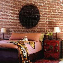 Фотография: Спальня в стиле Восточный, Эклектика, Декор интерьера, Декор дома, Цвет в интерьере, Обои – фото на InMyRoom.ru