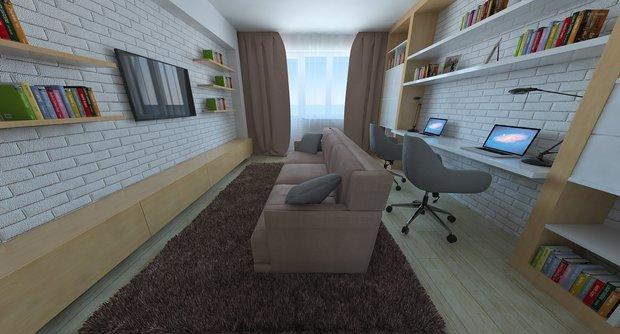 Гостиная+рабочий кабинет. Что поменять или добавить?