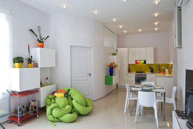 Фотография: Кухня и столовая в стиле Скандинавский, Эклектика, Декор интерьера, Декор дома, Цвет в интерьере, Геометрия в интерьере – фото на InMyRoom.ru