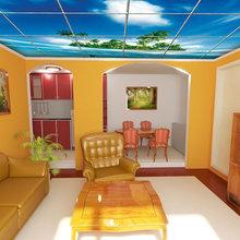 Фотография: Гостиная в стиле Современный, Эклектика, Дизайн интерьера, Потолок – фото на InMyRoom.ru