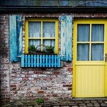 Фотография:  в стиле Кантри, Современный, Декор интерьера, DIY, Дизайн интерьера, Цвет в интерьере, Двери – фото на InMyRoom.ru