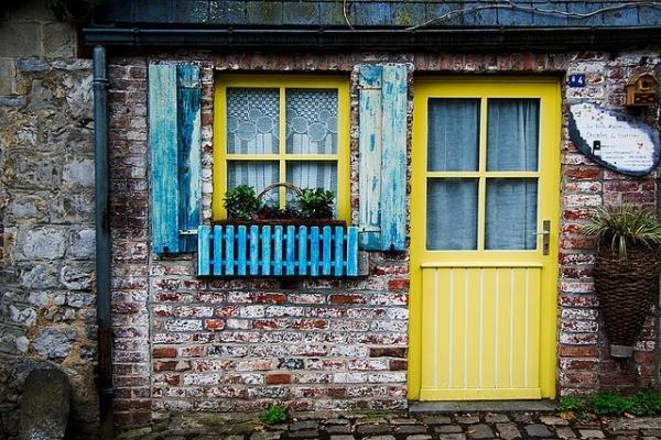 Фотография:  в стиле Прованс и Кантри, Современный, Декор интерьера, DIY, Дизайн интерьера, Цвет в интерьере, Двери – фото на InMyRoom.ru