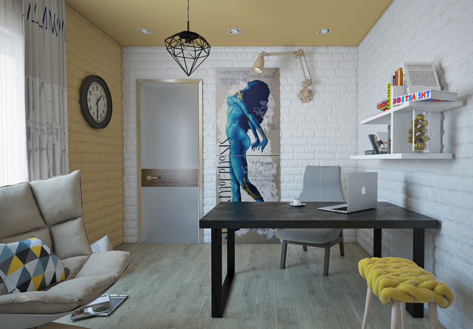 Фотография: Спальня в стиле Лофт, Современный, Квартира, Дома и квартиры – фото на InMyRoom.ru
