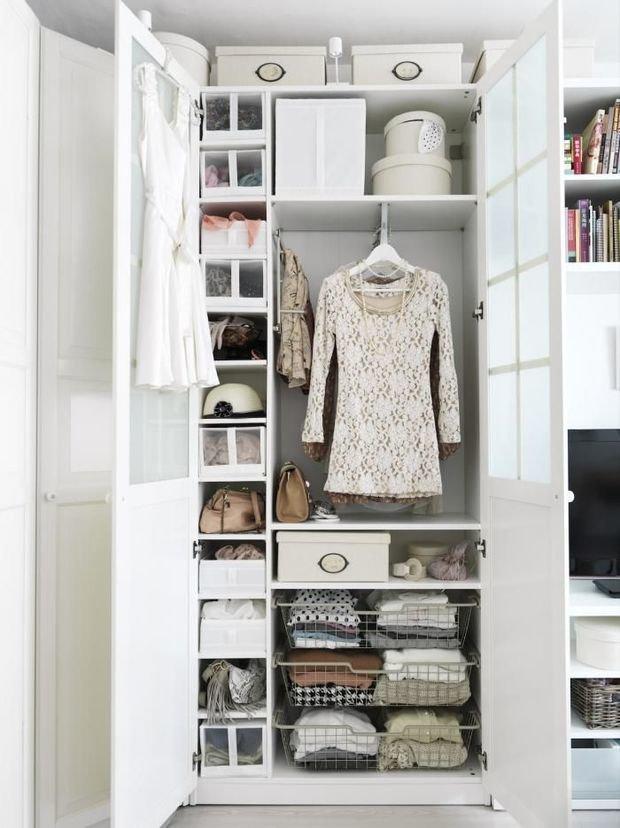 Фотография: Спальня в стиле Прованс и Кантри, Гардеробная, Интерьер комнат, Гардероб – фото на InMyRoom.ru