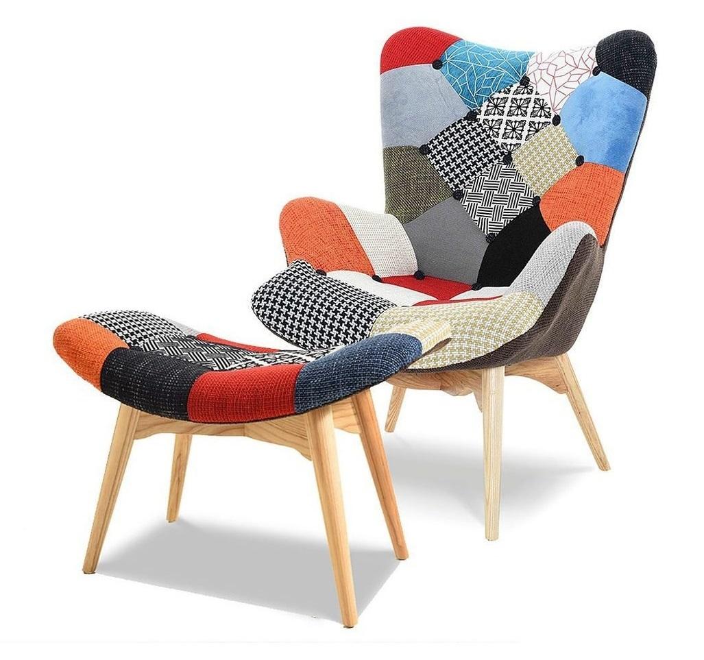 Купить Набор кресло и пуф Patchwork, inmyroom, Китай