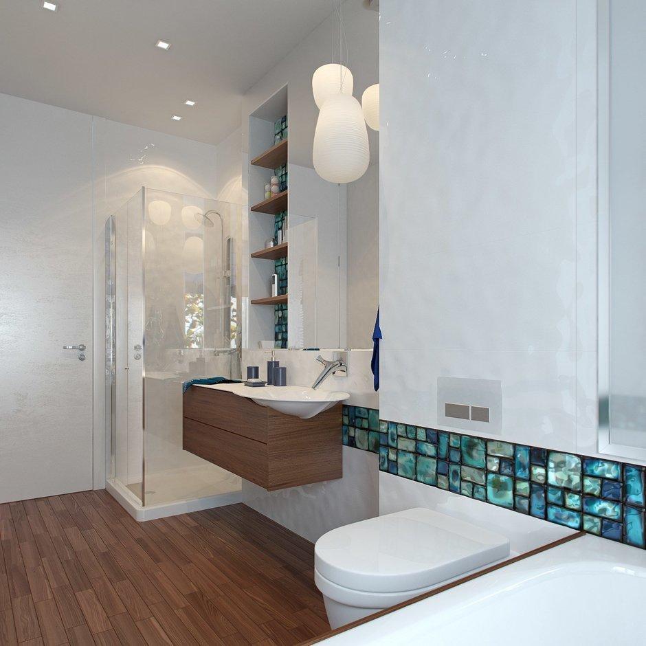 Фотография: Ванная в стиле Современный, Квартира, Дома и квартиры, Проект недели, Пентхаус – фото на InMyRoom.ru