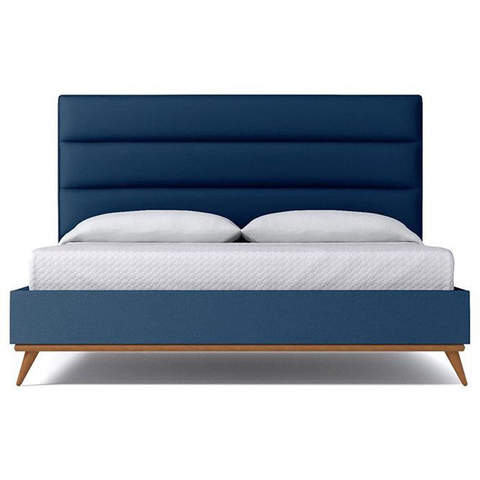 Кровать Cooper Blueberry синего цвета 180х200