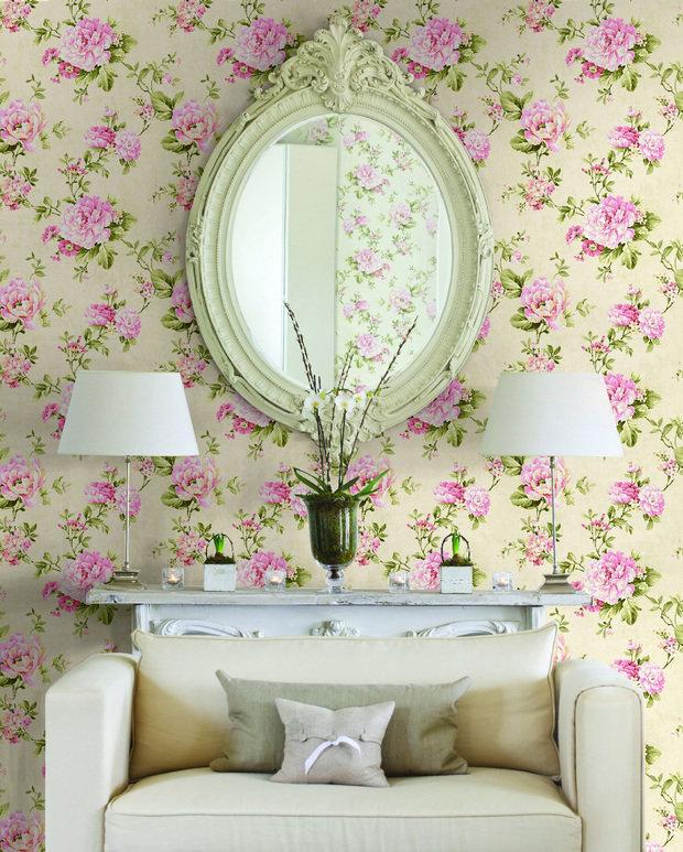 Фотография: Прочее в стиле , Гостиная, Интерьер комнат, Картины, Зеркало – фото на InMyRoom.ru