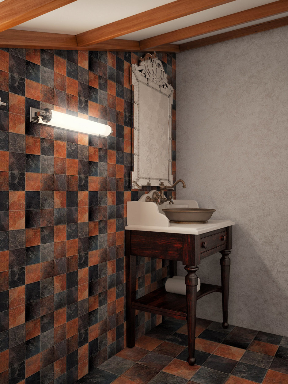 Фотография: Ванная в стиле , Декор интерьера, Дом, Artemide, Vistosi, Дома и квартиры, Проект недели, Ideal Lux, Таунхаус – фото на InMyRoom.ru