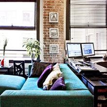 Фотография: Гостиная в стиле Лофт, Декор интерьера, Декор дома, Ширма, Перегородки – фото на InMyRoom.ru