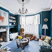 Фотография: Гостиная в стиле Кантри, Дизайн интерьера, Лондон, Викторианский – фото на InMyRoom.ru