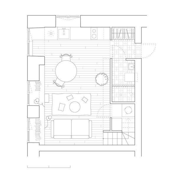 Фотография: Планировки в стиле , Малогабаритная квартира, Квартира, Дома и квартиры – фото на INMYROOM