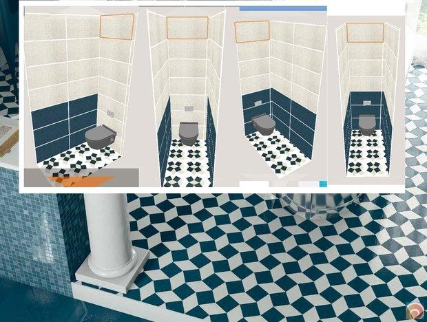 Дизайн туалета 1 м кв