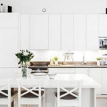 Фотография: Кухня и столовая в стиле Скандинавский, Современный, Декор интерьера, Дизайн интерьера, Цвет в интерьере, Советы, Белый – фото на InMyRoom.ru