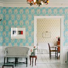 Фотография: Гостиная в стиле Эклектика, Декор интерьера, Дизайн интерьера, Цвет в интерьере, Бирюзовый – фото на InMyRoom.ru