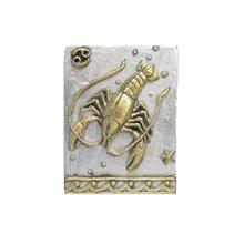Панно Знак зодиака РАК (серебряно-золотой)