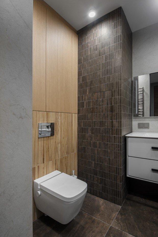 Фотография: Ванная в стиле Современный, Квартира, Проект недели, Москва, Илона Болейшиц, 3 комнаты, Более 90 метров, AR-KA, Игорь Орлов – фото на INMYROOM