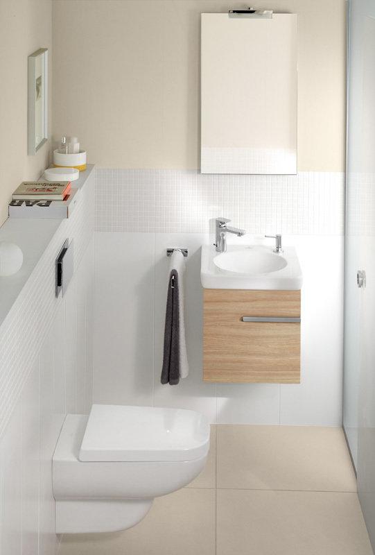 Фотография:  в стиле , Ванная, Советы, Villeroy & Boch, дизайн ванной комнаты, дизайн маленького санузла, Thomas Kannengiesser, SupraFix, Direct Flush, Soft Closing System, TitanCeram, Octagon, antibac, CeramicPlus – фото на InMyRoom.ru