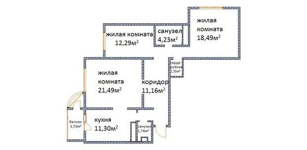 Фотография: Прихожая в стиле , Квартира, Планировки, Перепланировка, Валентина Донская, П-44Т – фото на InMyRoom.ru