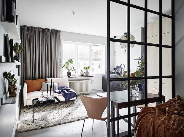 Фотография: Гостиная в стиле Скандинавский, Декор интерьера, Квартира, Студия, до 40 метров – фото на InMyRoom.ru