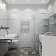 Фотография: Ванная в стиле Хай-тек, Квартира, Цвет в интерьере, Дома и квартиры, Белый, Проект недели – фото на InMyRoom.ru
