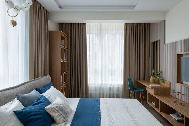 Фотография: Спальня в стиле Современный, Квартира, Проект недели, Москва, Ануш Аракелян, 4 и больше, Более 90 метров – фото на INMYROOM